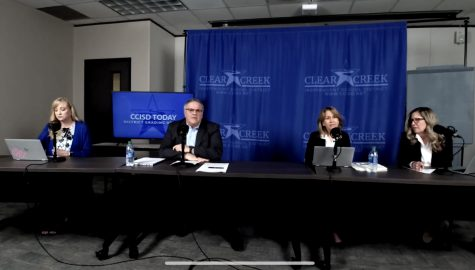 Superintendent Greg Smith, Assistant Superintendent of Secondary Schools Karen Engle, Assistant Superintendent of Elementary Education Holly Hughes and Director of Guidance and Counseling, Dava West, discuss the new grading policy on Facebook live.