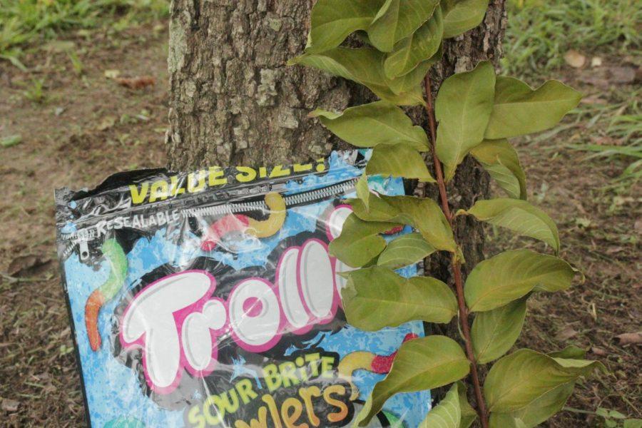 Trolli gummers outside
