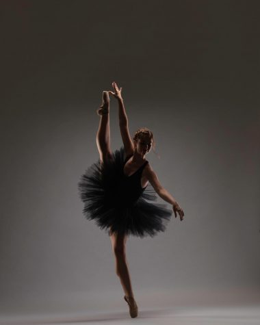 Student performing ballet
